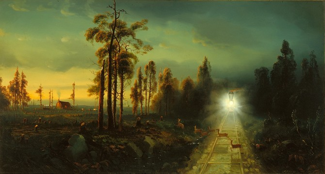 Andrew Melrose, Westward the Star of Empire Takes Its Way—Near Council Bluffs, Iowa, 1867, Oil on canvas